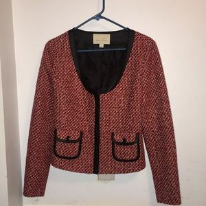 Red and Pink Tweed Blazer Nordstrom - Small